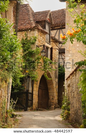 Historic village in dordogne, france