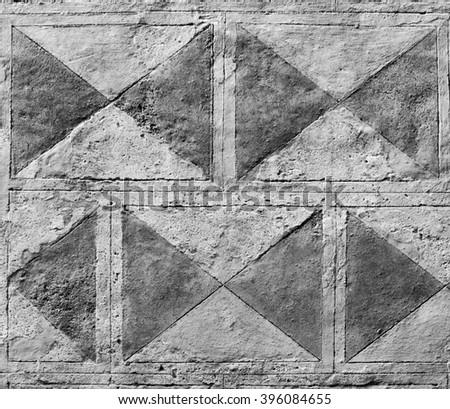 Historic wall pattern in Tuscany, Italy - stock photo