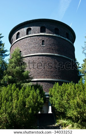 Historic water tower - stock photo