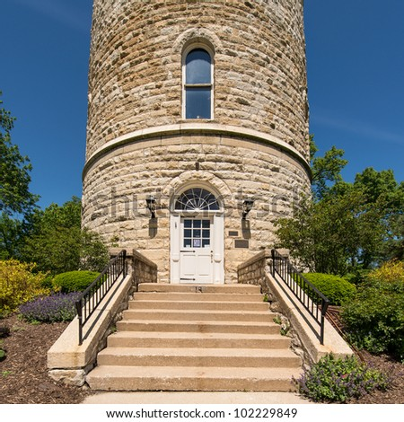 Historic Water Tower in Western Springs, Illinois - stock photo