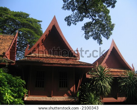 Historic wooden house in Bangkok