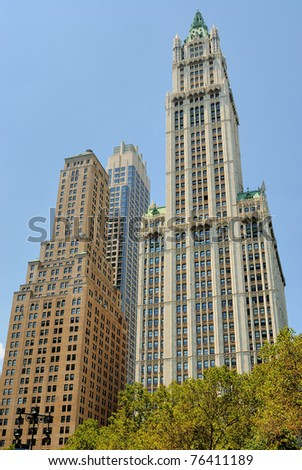 historic woolworth building - stock photo
