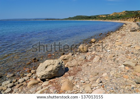 Historical Anzac Cove in Canakkale Turkey - stock photo