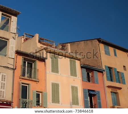 historical buildings, Cassis, Provence, France