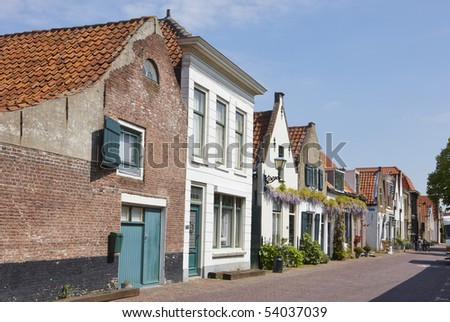 Historical buildings in Brielle, Holland