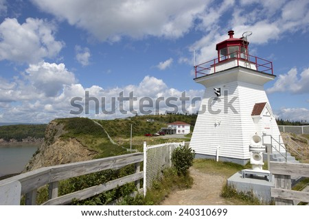 Historical Cape Enrage, Bay of Fundy, New Brunswick, Canada - stock photo
