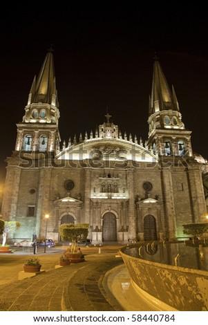 Historical cathedral in  Guadalajara, Jalisco, Mexico - stock photo