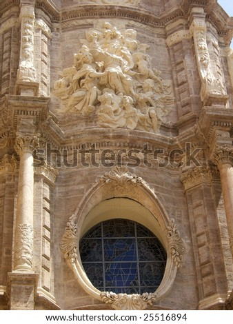Historical Cathedral, Valencia - stock photo