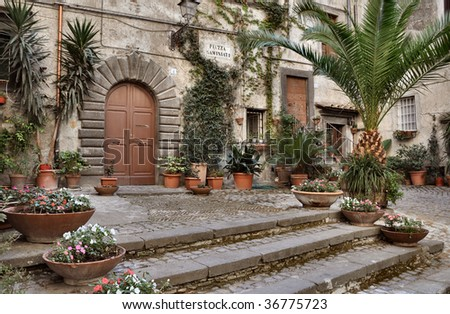 Historical center of Bracciano, Rome, Lazio, Italy