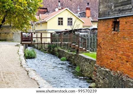 Historical centre of Kuldiga city, Latvia, Europe