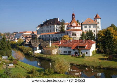 Historical chateau in Jindrichuv Hradec in the South Bohemia, Czech Republic.