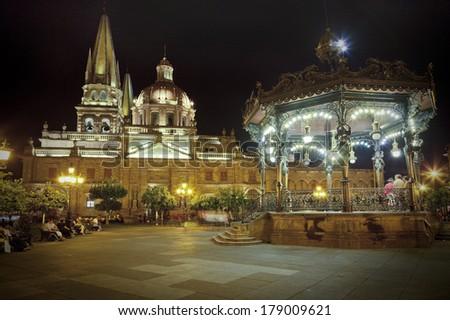 Historical churc in Guadalajara, Jalisco, Mexico - stock photo