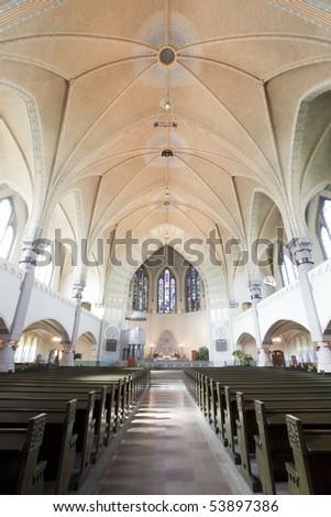 Historical Church in Turku, Finland. - stock photo