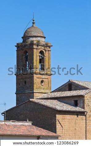 Historical church. Orvieto. Umbria. Italy. - stock photo