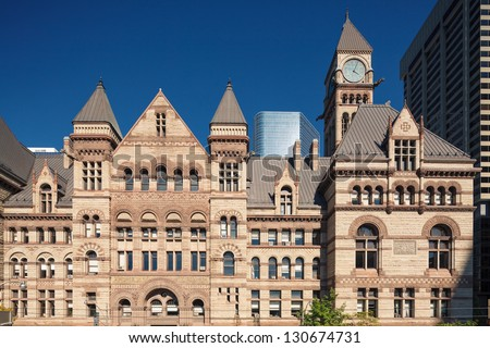 Historical City Hall building, downtown Toronto, Canada - stock photo