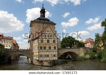 Historical City Hall of Bamberg - stock photo