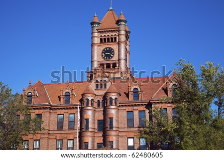 Historical, Courthouse in Wheaton, Illinois - stock photo