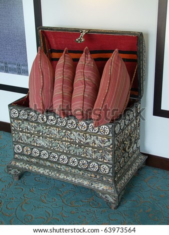 Historical decorative box - stock photo