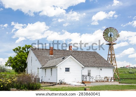 Historical farm house in Parker, Colorado. - stock photo