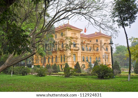 Historical French Colonial Governor's Mansion - Hanoi, Vietnam - stock photo