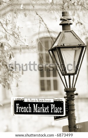 Historical French Market in New Orleans in French Quarter