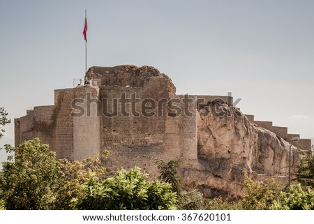 Historical Harput Castle in Elazig, Turkey at summer time