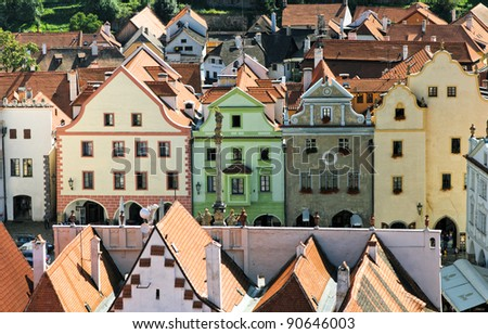 Historical houses in Cesky Krumlov. Czech Republic - stock photo