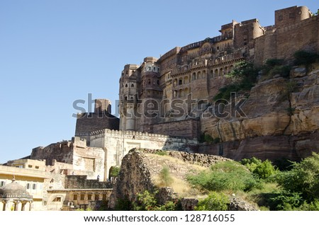 historical Jodphur big fort in Rajasthan, India