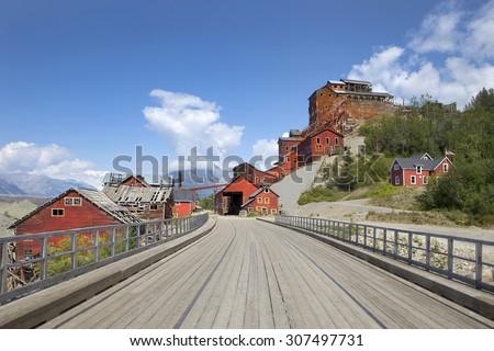 Historical Kennicott Copper Mines in McCarthy, Alaska - stock photo