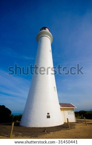 Historical lighthouse along the Great Ocean Drive in Australia