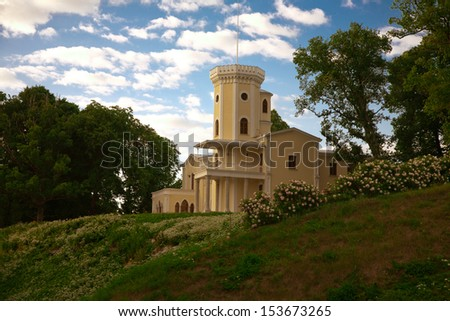 Historical minor of Benkendorf?-Volkonsky buld in 1832 by Benkendorff by 1 000 000 gold rubles from russin tsar budget, - stock photo