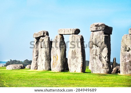 Historical monument Stonehenge, England, United Kingdom - stock photo