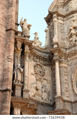 Historical monuments in the city of Valencia (Spain) - stock photo