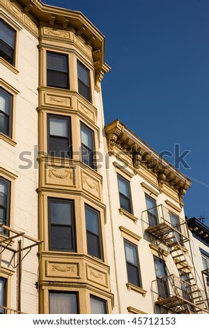Historical multistory building in downtown Hoboken, New Jersey - stock photo