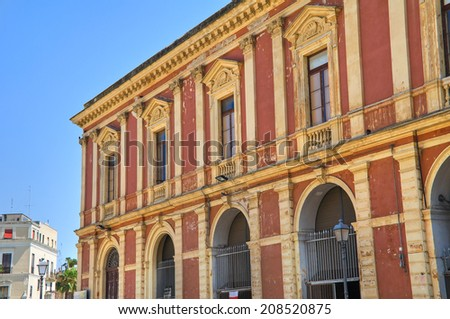 Historical palace. Bari. Puglia. Italy. - stock photo