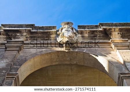 Historical palace. Bitritto. Puglia. Italy. - stock photo