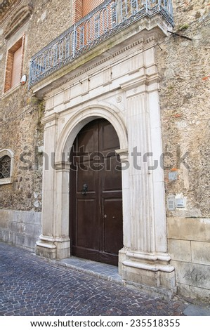 Historical palace. Brienza. Basilicata. Italy. - stock photo