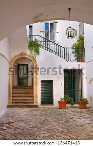 Historical palace. Lecce. Puglia. Italy. - stock photo