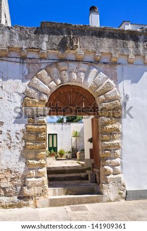 Historical palace. Palmariggi. Puglia. Italy. - stock photo