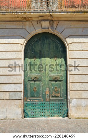 Historical palace. San Severo. Puglia. Italy. - stock photo
