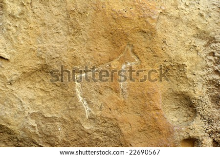 Historical petrograph in Azerbaijan - stock photo