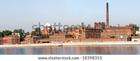 Historical prison 'Crosses' (Kresti)  in Saint Petersburg, view from river Neva