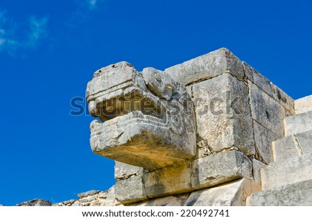 Historical ruins of ancient civilization of Maya. Chicen Itsa, Mexico. - stock photo