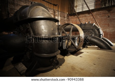 Historical sewage treatment plant, Prague, Czech Republic - stock photo