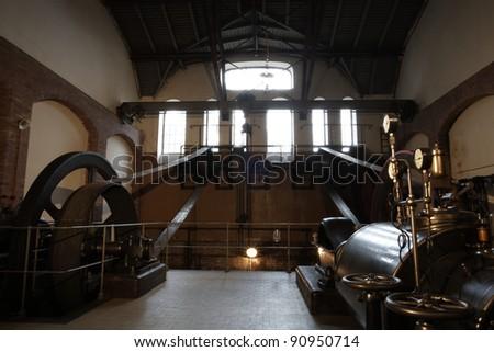Historical sewage treatment plant, Prague, Czech Republic - stock photo