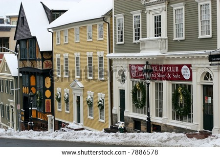 historical Thomas Street, Providence, Rhode Island - stock photo