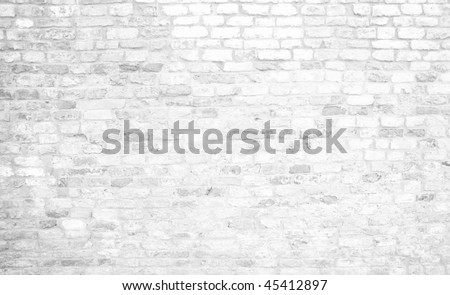 historical white brick wall background - stock photo