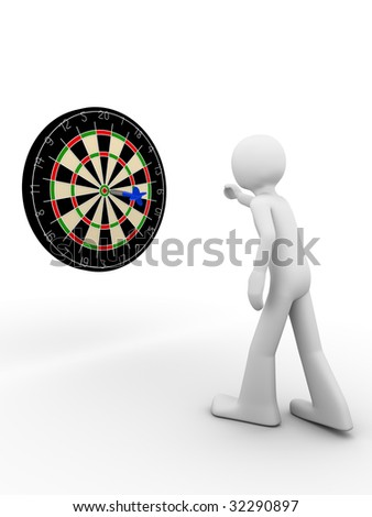 Hit the bull's eye! - stock photo