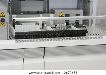 hitech biochemistry laboratory equipment details closeup - stock photo
