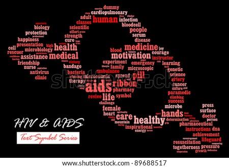 Hivaids Awareness Campaign Infotextcloud Wordword Collage Stock